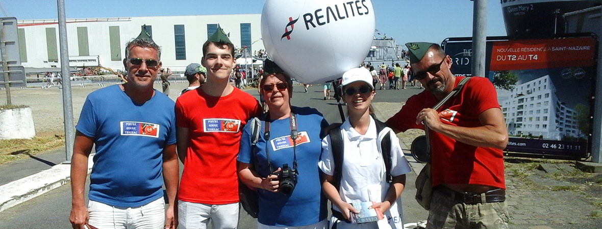 Promoteur Realites - street marketing en body ball - NON STOP MEDIA Atlantique