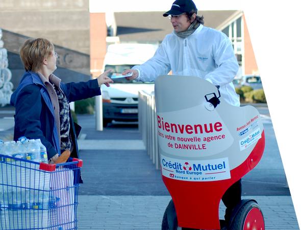 Segway électrique pour le street marketing - Affichage mobile - NON STOP MEDIA Atlantique