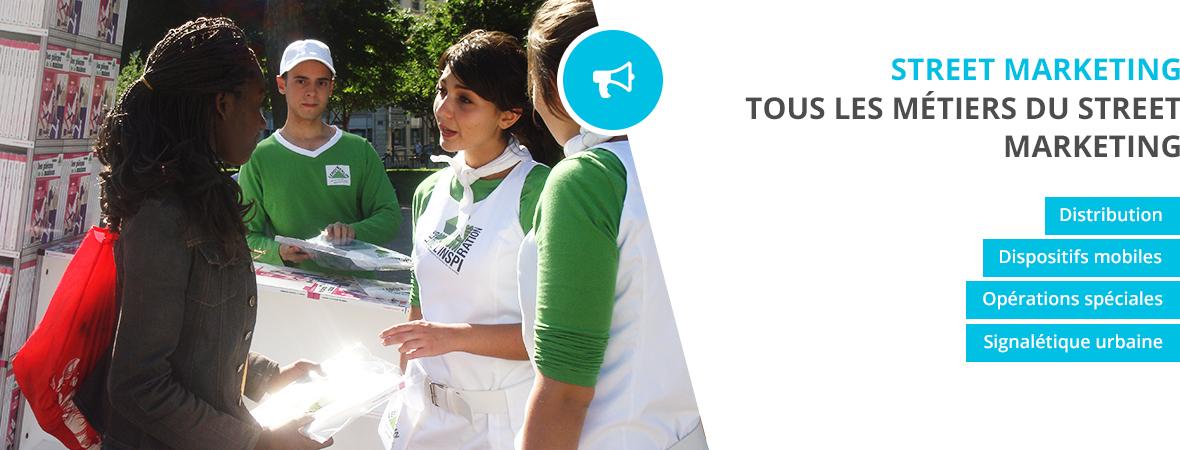 Distribution de tracts, affichage mobile, Signalétique urbaine pour le street Marketing - NON STOP MEDIA Atlantique