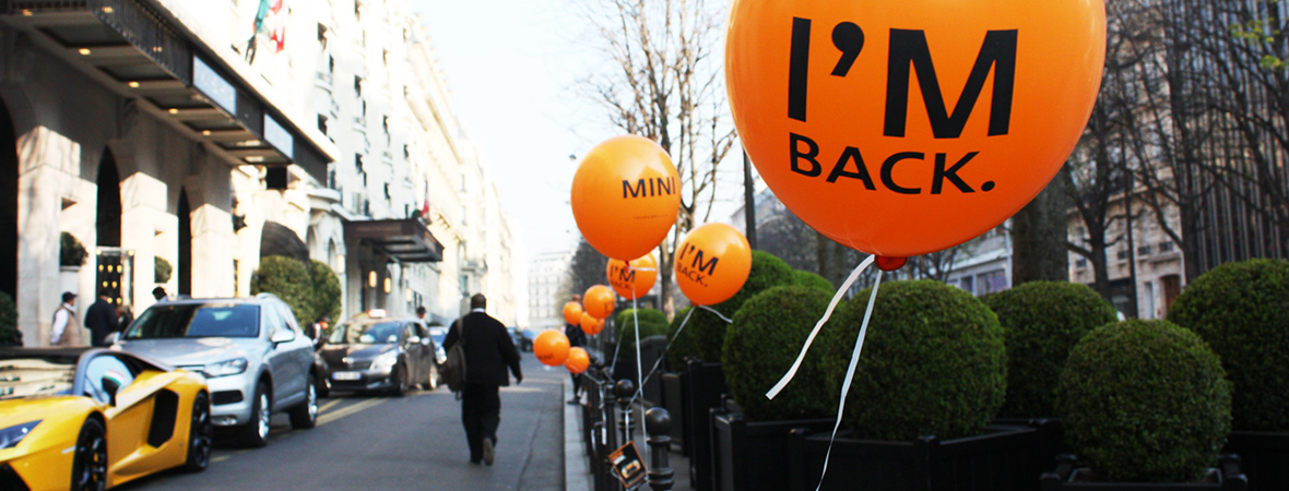 Ballons et guerilla marketing - street marketing - NON STOP MEDIA Atlantique