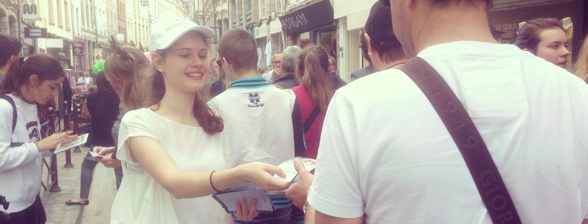 Bleu d'Argan - Street Marketing - Animation - NON STOP MEDIA Ile de France