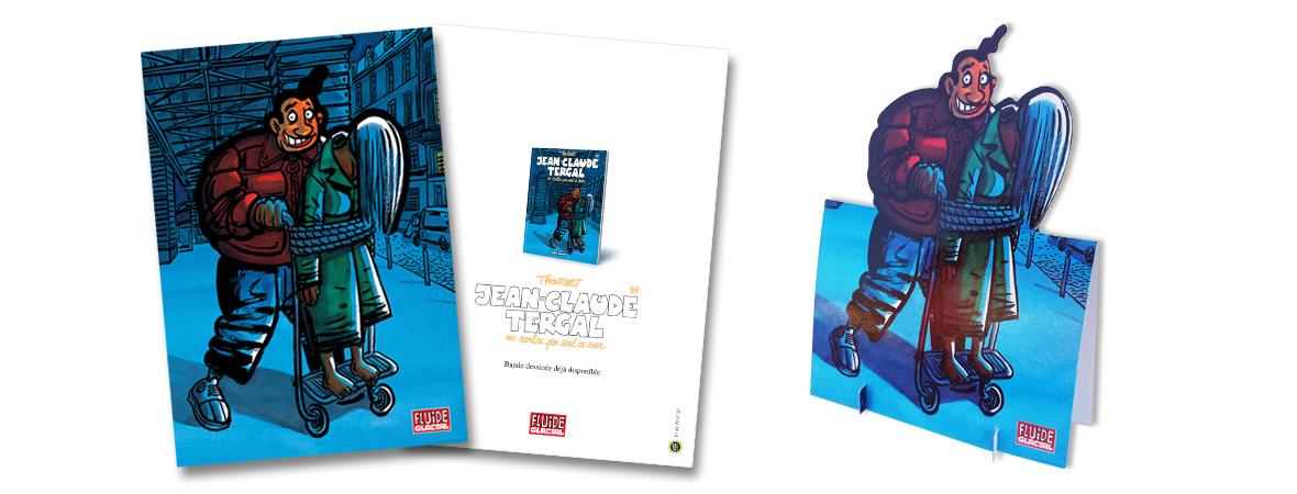 Carte postale publicitaire avec découpe spéciale - Cart'Com Event - Groupe NON STOP MEDIA