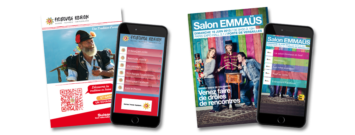 Carte postale publicitaire interactive - QR code et site web mobile -Cart'Com - Smart'Cart - Groupe NON STOP MEDIA