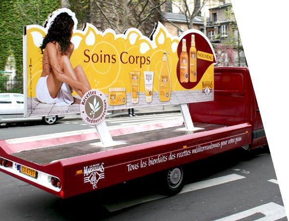 Le petit Marseillais - Affichage Mobile - Camion Panoramique publicitaire - Groupe NON STOP MEDIA