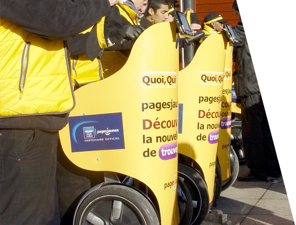 Pages Jaunes en segway - Véhicule affichage mobile - Segway - Groupe NON STOP MEDIA