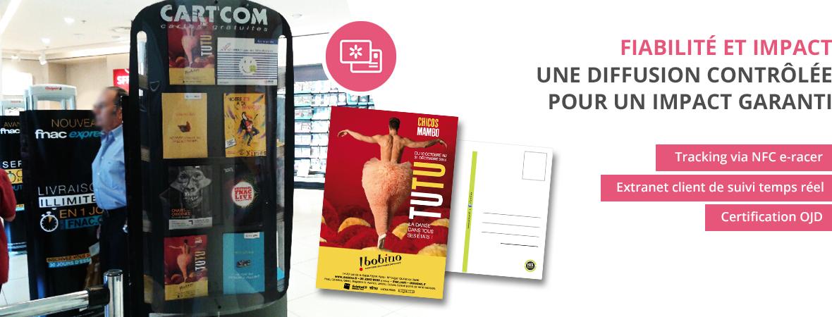 Cart'Com, la carte postale publicitaire - Diffusion trackée et suivie - Groupe NON STOP MEDIA