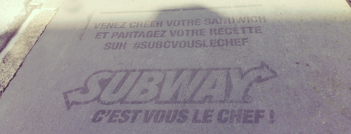 Subway - Street Marketing - Groupe NON STOP MEDIA