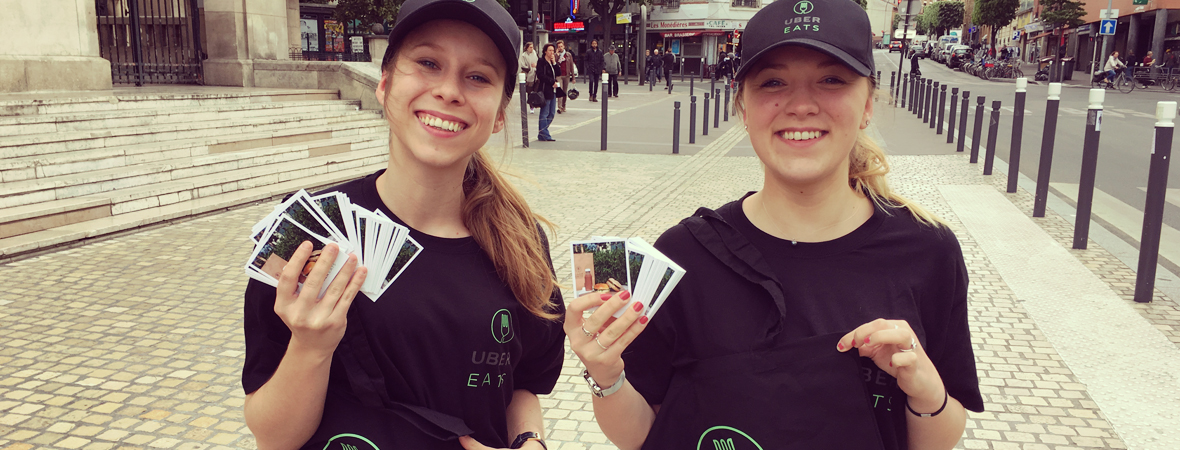 Ubereats - Street Marketing - Groupe NON STOP MEDIA