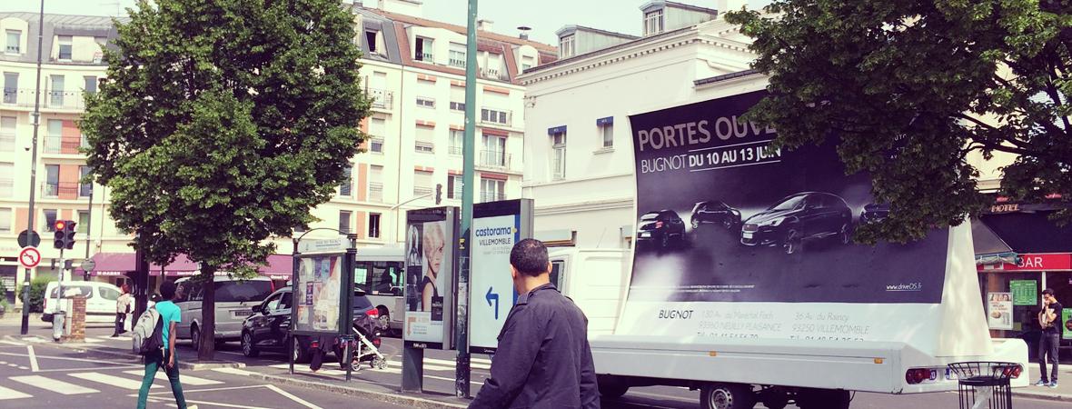 Citroen - affichage mobile - Groupe NON STOP MEDIA