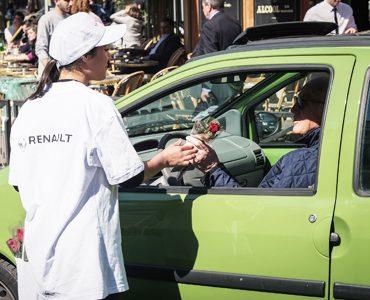 Renault distribue des mercis