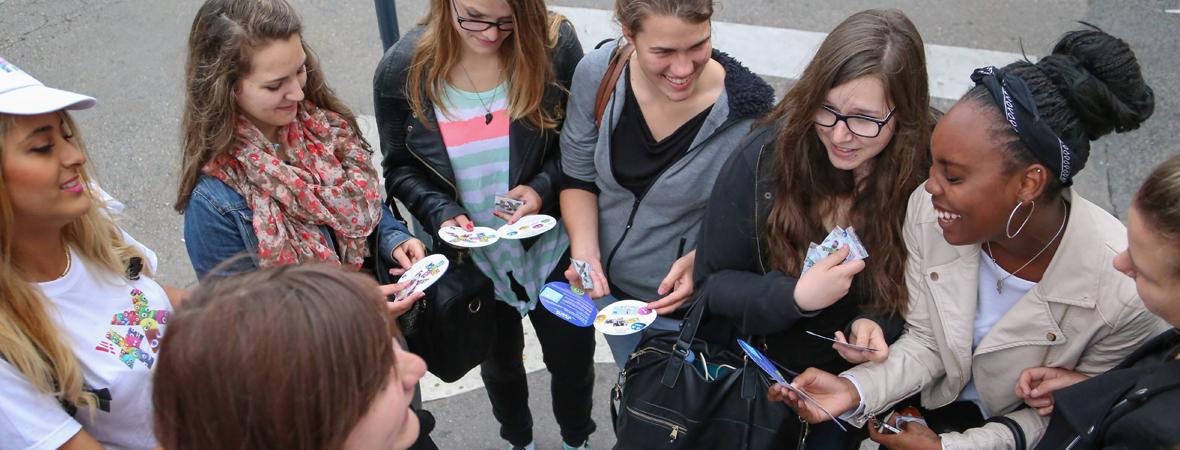Banque Populaire - Street marketing - NON STOP MEDIA Grand-Est