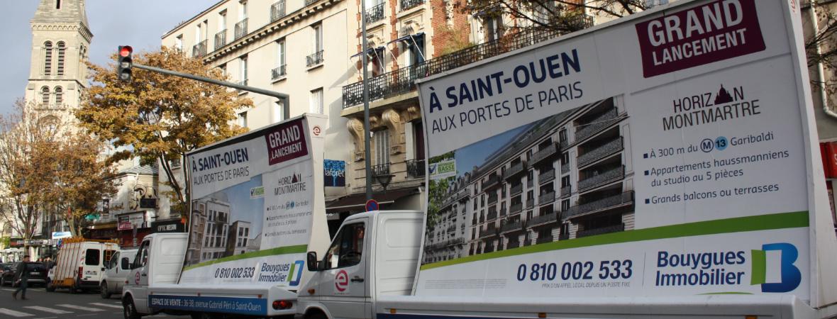 Bouygues Immobilier - Affichage mobile - NON STOP MEDIA Île de France