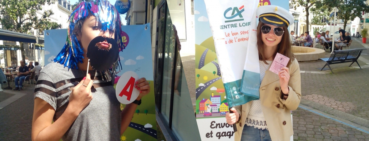Credit Agricole - Animation street marketing - NON STOP MEDIA Centre