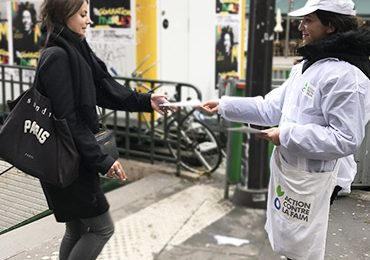 Action contre la Faim en street