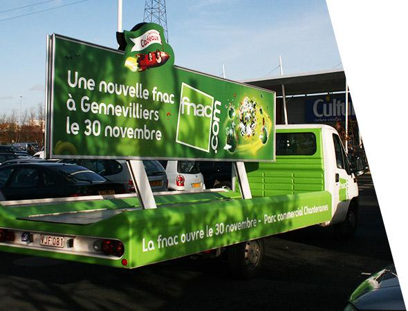 Fnac - Affichage Mobile - Camion Panoramique - NON STOP MEDIA Île de France