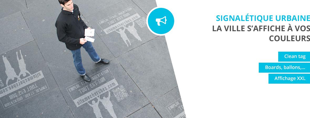 Guerilla et signaletique urbaine - Street marketing - NON STOP MEDIA Ile de France