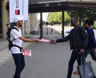 Déploiement street marketing pour Sogeprom