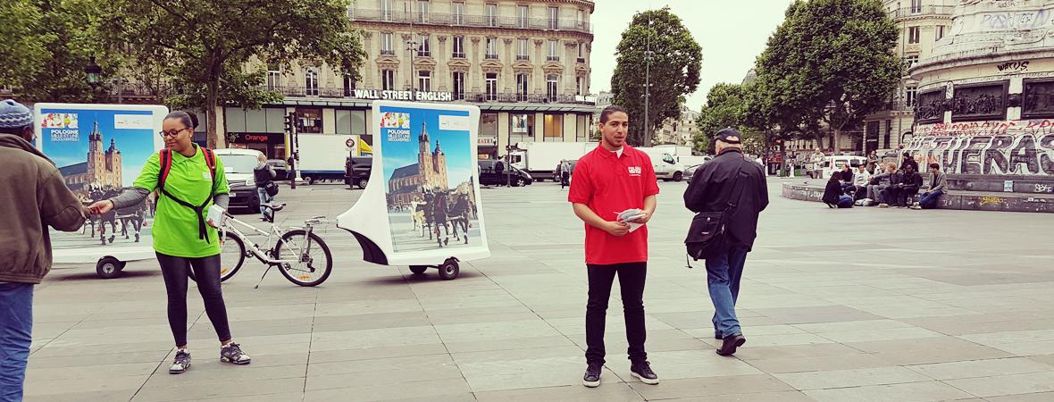 Office National Polonais - Affichage mobile - Street Marketing - NON STOP MEDIA Ile de France