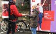 street marketing, affichage mobile et animation pour SFR avec NON STOP MEDIA Ile de France