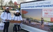 ffichage mobile, street marketing et animation drinkman pour Bouygues Immo avec NON STOP MEDIA IDF