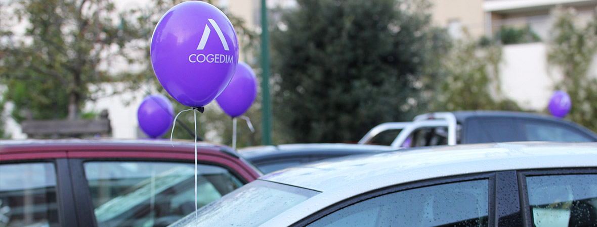 Cogedim street marketing diffusion ballons publicitaires - NON STOP MEDIA RA