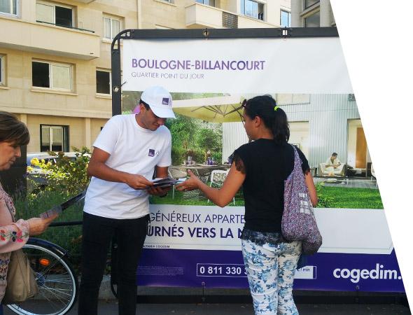 Bike'Com, vélo publicitaire - Affichage mobile - NON STOP MEDIA Rhône Alpes