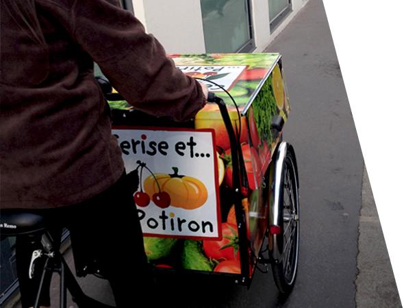 Vélo triporteur pour le street marketing - Affichage mobile - NON STOP MEDIA Rhône Alpes