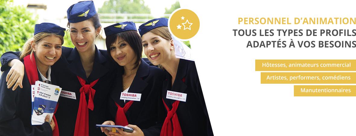 Recrutement d'hotesse - Animations événementielles et commerciales - NON STOP MEDIA Rhône Alpes