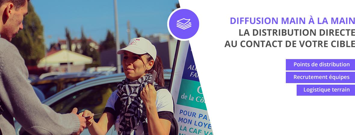 Distribution main à la main - Distribution et dépots - NON STOP MEDIA Rhône Alpes