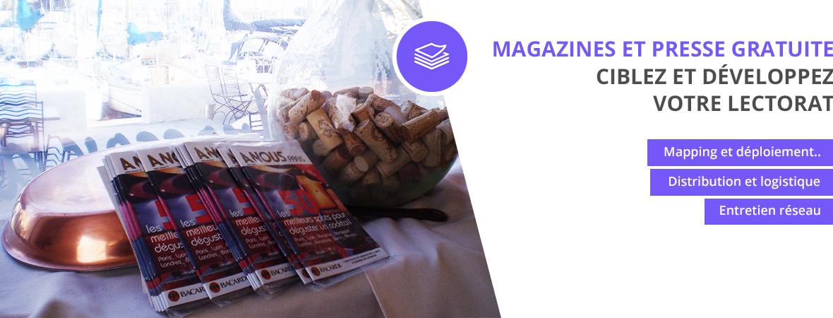 Diffusion et dépots de magazines et presse gratuite - Distribution et dépots - NON STOP MEDIA Rhône Alpes