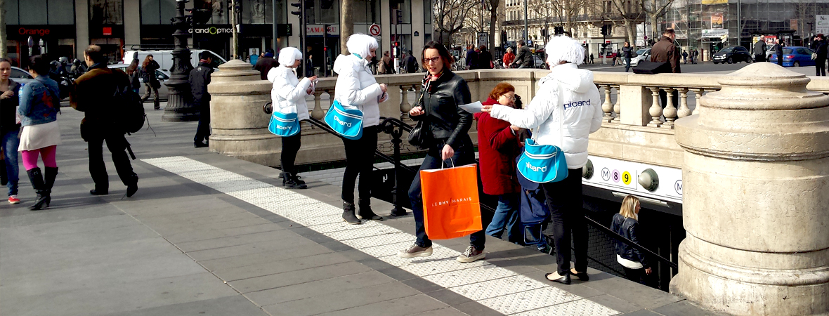 Picard - Street marketing - Groupe NON STOP MEDIA