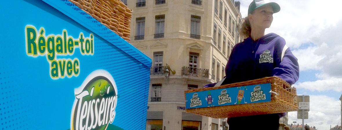 Teisseire - Affichage mobile - street marketing - Groupe NON STOP MEDIA
