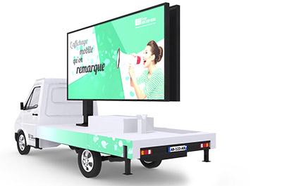 Le camion à écran LED publicitaire - Affichage publicitaire mobile
