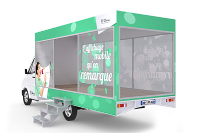 La vitrine publicitaire mobile - Affichage publicitaire mobile