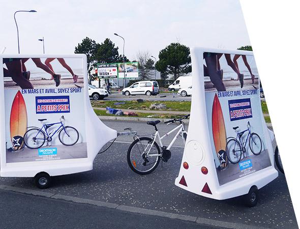 Decathlon - Affichage mobile - Bike'Com - Groupe NON STOP MEDIA