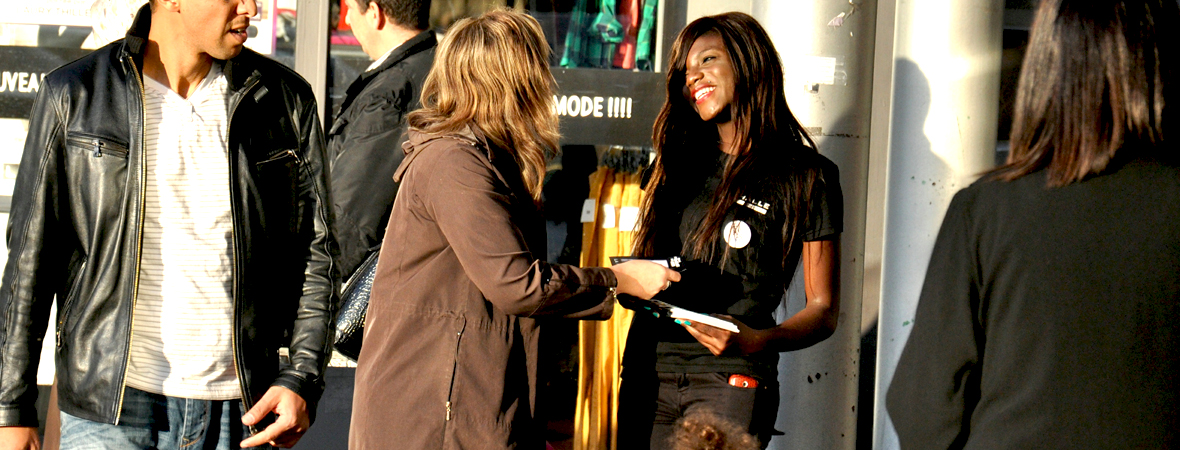 Street marketing à La Halle - Groupe NON STOP MEDIA