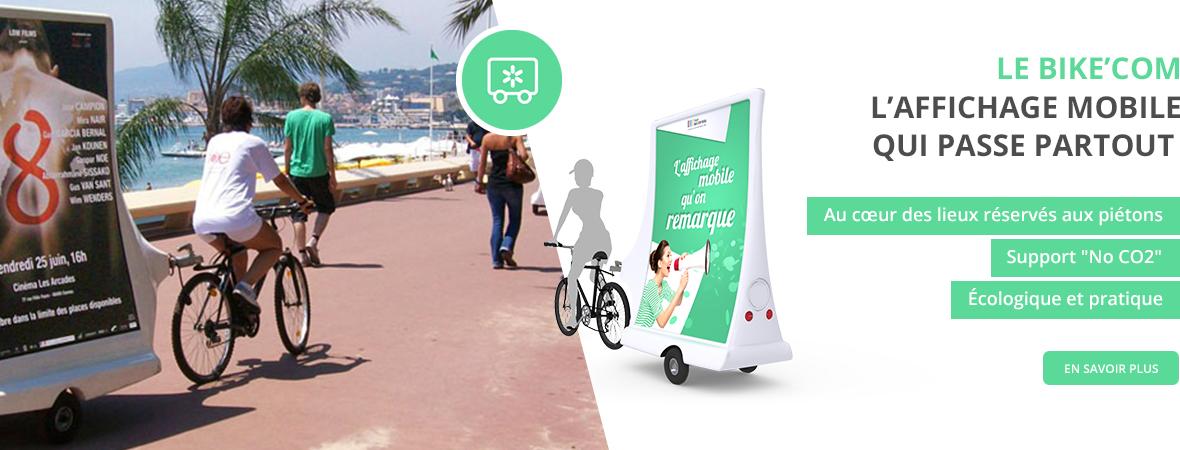Affichage mobile - Bike'Com - Groupe NON STOP MEDIA