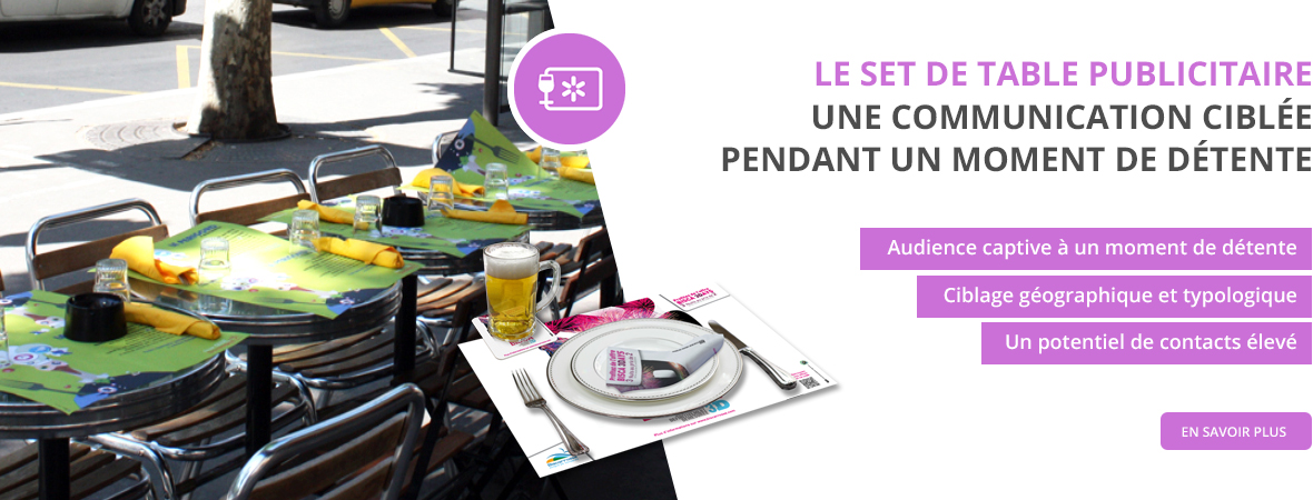 Support tactique - Set de table - Groupe NON STOP MEDIA