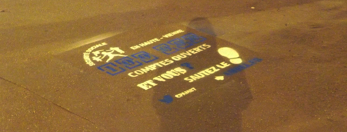 CPAM - Street Marketing - Clean Tags - NON STOP MEDIA Aquitaine