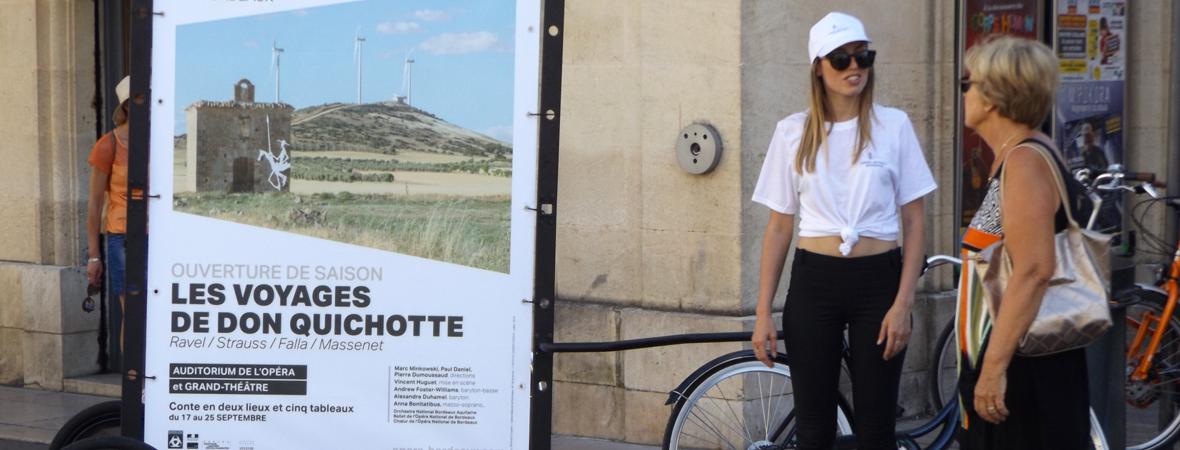 Affichage en Bike'Com pour l'Opera de Bordeaux avec NON STOP MEDIA Aquitaine