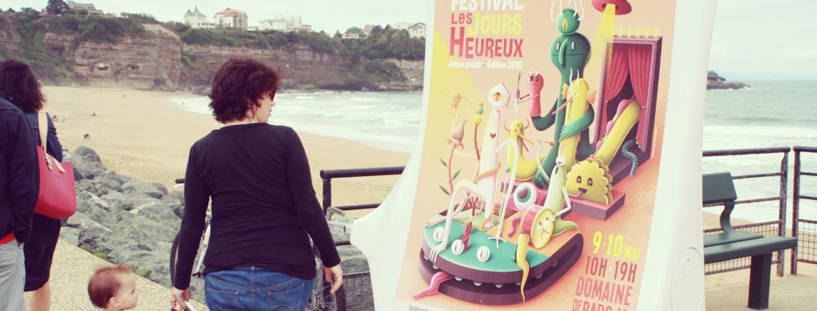 Festival les jours heureux - affichage mobile - street marketing - NON STOP MEDIA Aquitaine