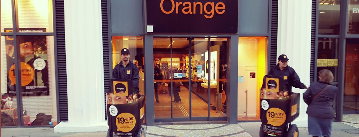 Orange - Affichage mobile - NON STOP MEDIA Aquitaine