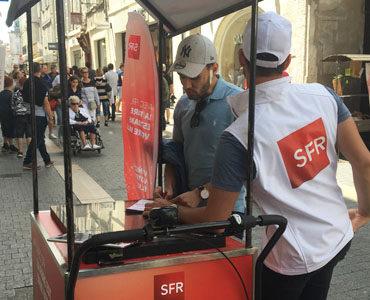 Jeu digital sur triporteur by SFR