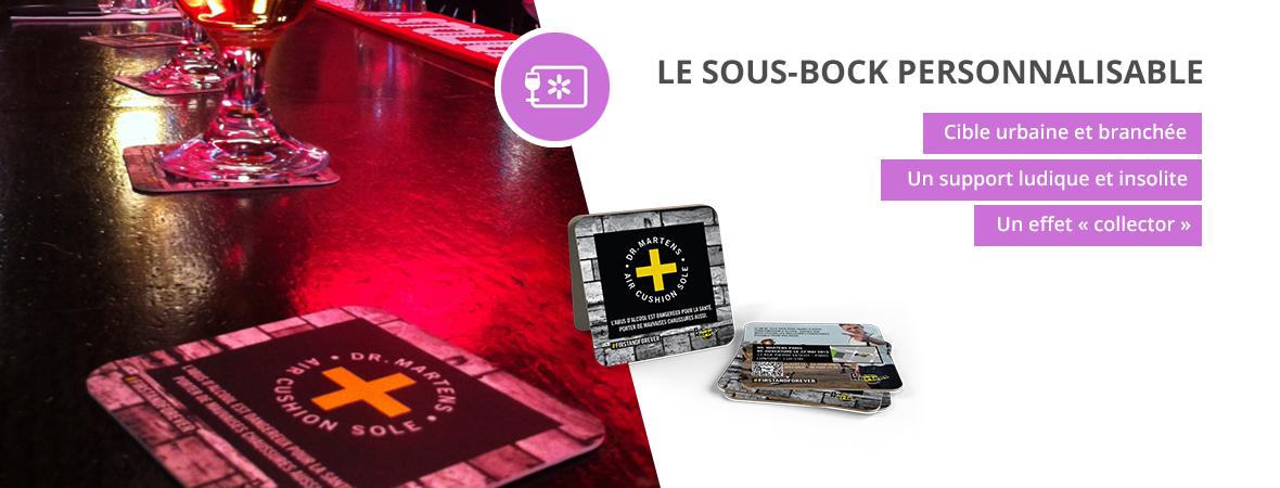 sous-bocks, dessous de verre, sous verre - Medias tactiques - NON STOP MEDIA Aquitaine
