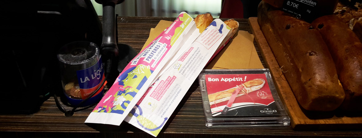sac à baguette pour la ville de Rennes avec NON STOP MEDIA Atlantique