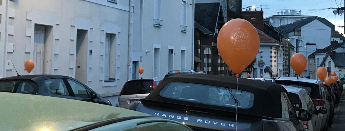 Guerilla Ballons pour Les belles lettres avec NON STOP MEDIA Atlantique