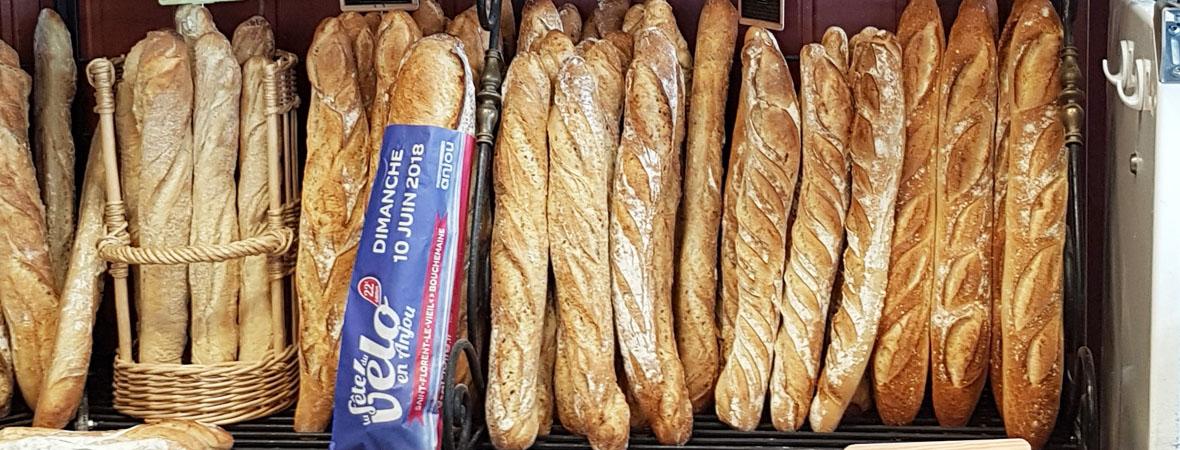 Sac à pain publicitaire pour la fête du vélo en Maine et Loire avec NON STOP MEDIA Atlantique