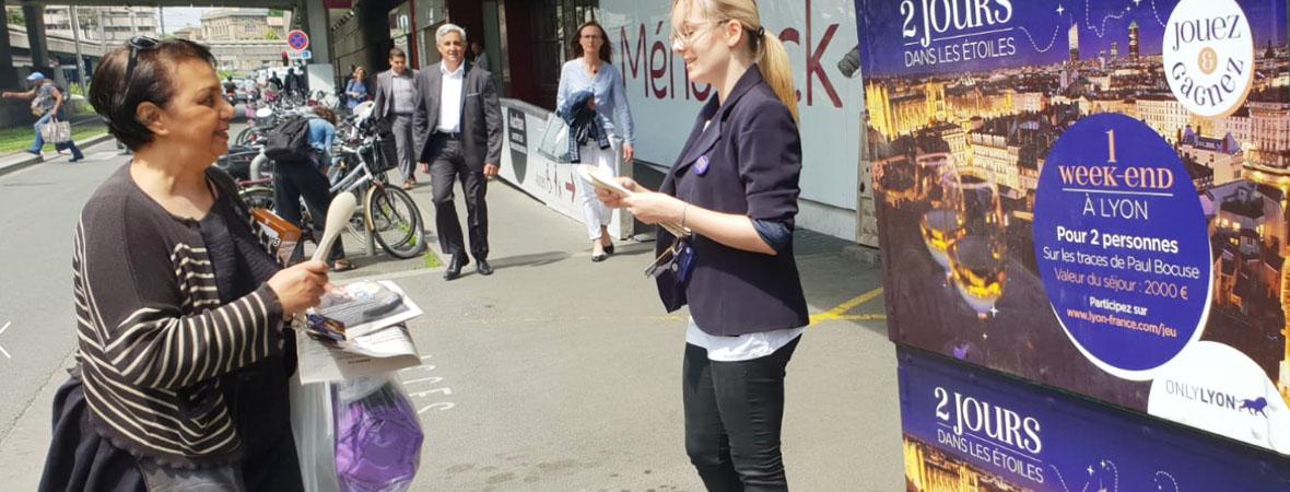 Triporteur et animation événementielle pour Only Lyon avec NON STOP MEDIA Rhone Alpes