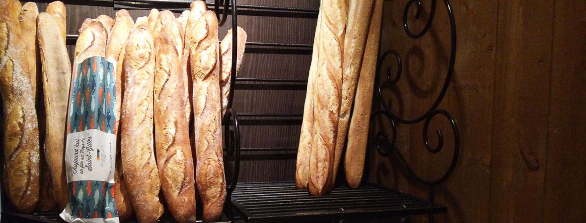 sacs à pain publicitaires pour Saint Gilles avec NON STOP MEDIA Atlantique
