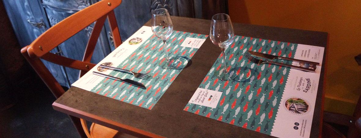 sets de table publicitaires pour Saint Gilles avec NON STOP MEDIA Atlantique